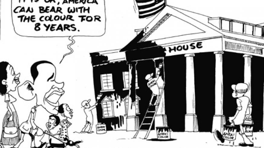 Will newly elected US President, Barack Obama, paint the White House black?