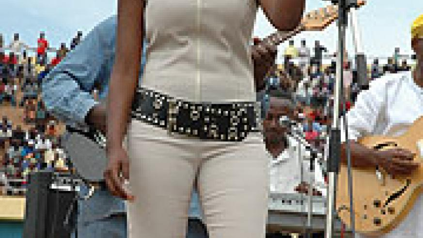 Miss Shanel during one of her shows (photo file)