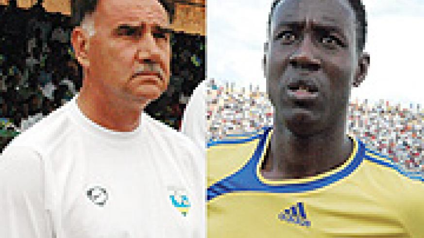 L-R: National team coach: Blanko Tucak , TO miss: Oliver Karekezi .