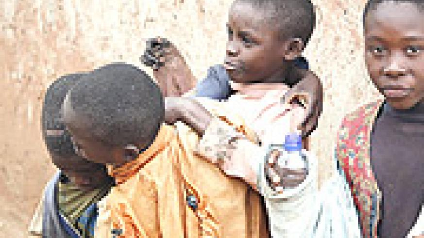 Most street children consume drugs. (File photo).