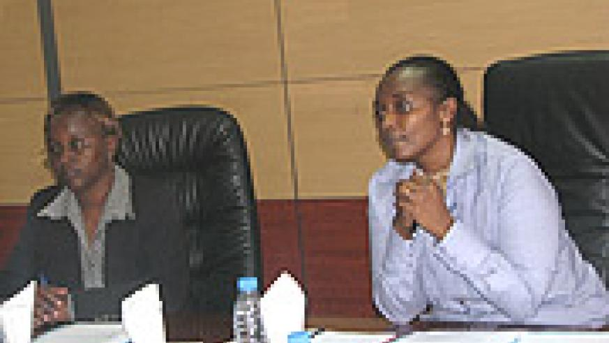 Prisca Mujawayezu, DSG-PSF and Mary Baine, RRA Commissioner General.
