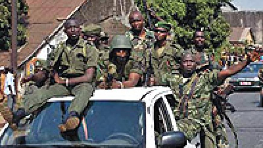 Guinea soldiers take over.
