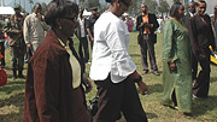 First lady  Jeannette Kagame arrives at Kwita Izina ceremony.