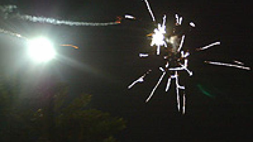 Kigali residents welcomed the new year with a display of fireworks.