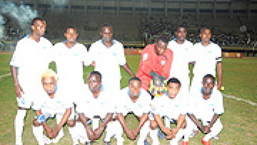 BACK IN THE RACE: Rwanda team that lost to Uganda in the first game. (Photo / A. E. Oryada).