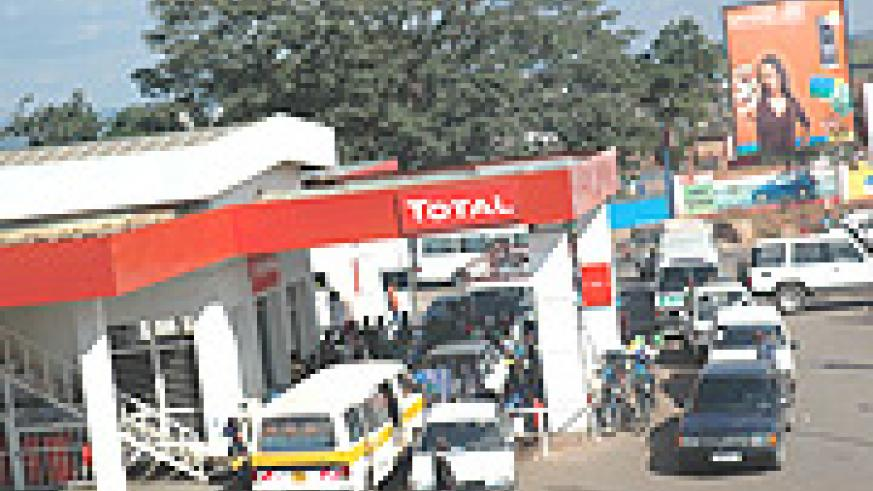 Cars at a filling station waiting  for Fuel. (File Photo).