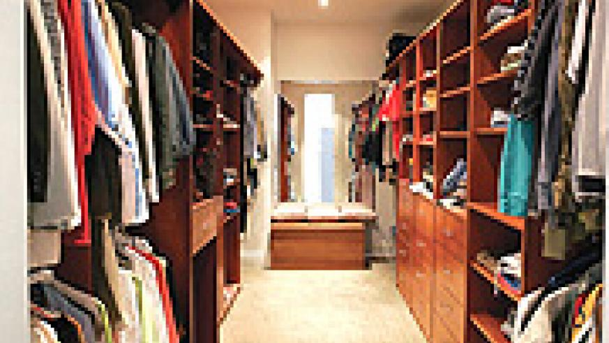 An organised wardrobe could be a lifesaver!