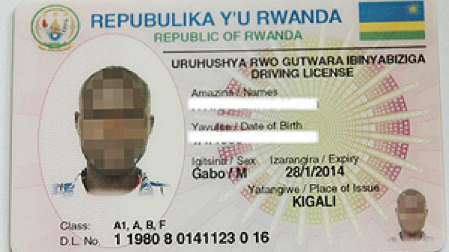 A specimen of the new electronic driving licence that is to be issued soon. (Photo J Mbanda).