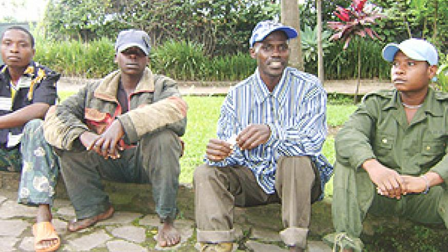Some of the FDLR rebels who gave themselves up. (Courtesy photo).