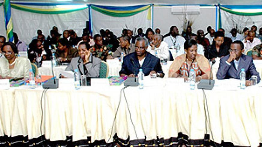 Some of the government officials taking part in the Retreat.