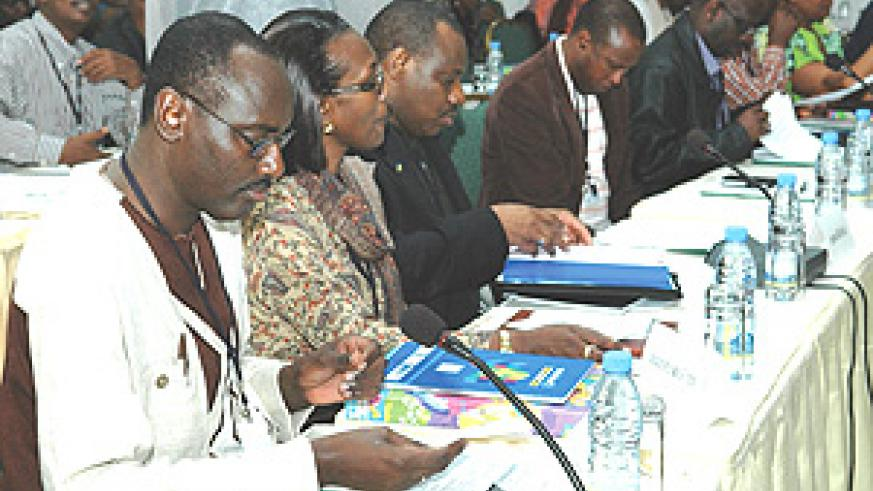 Rwandan Diplomatic envoys are  also taking part in the  National retreat  at Kivu Serena Hotel. (Photo PPU).