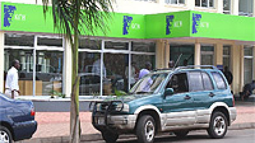 The KCB branch in Kigali City (File Photo)