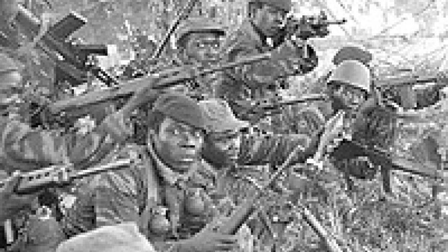 Mobutu's army at a past operation.