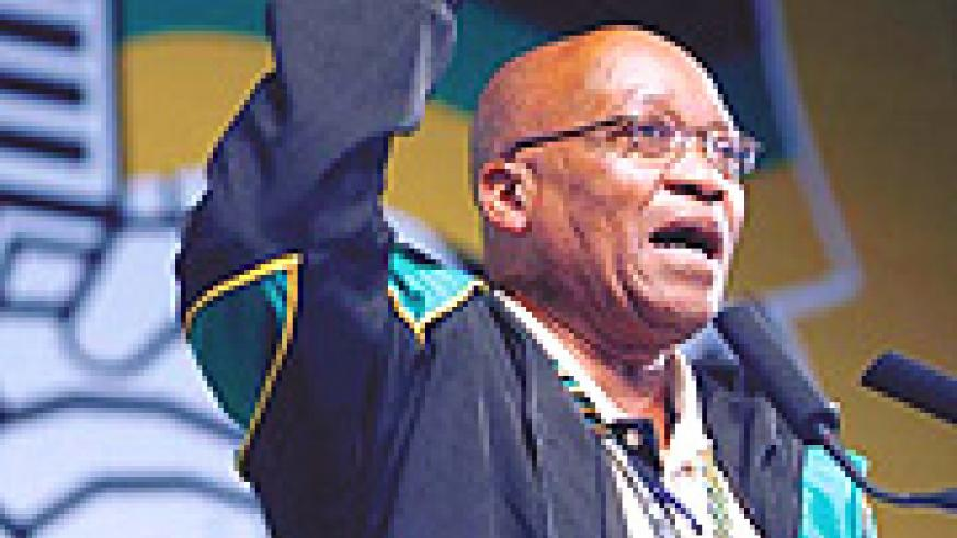 A.N.C.'s leader:  Jacob Zuma.