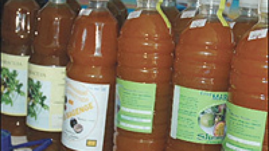 Maracuja bottled fruit juices that directly compete with 'Inyange'. (File photo).