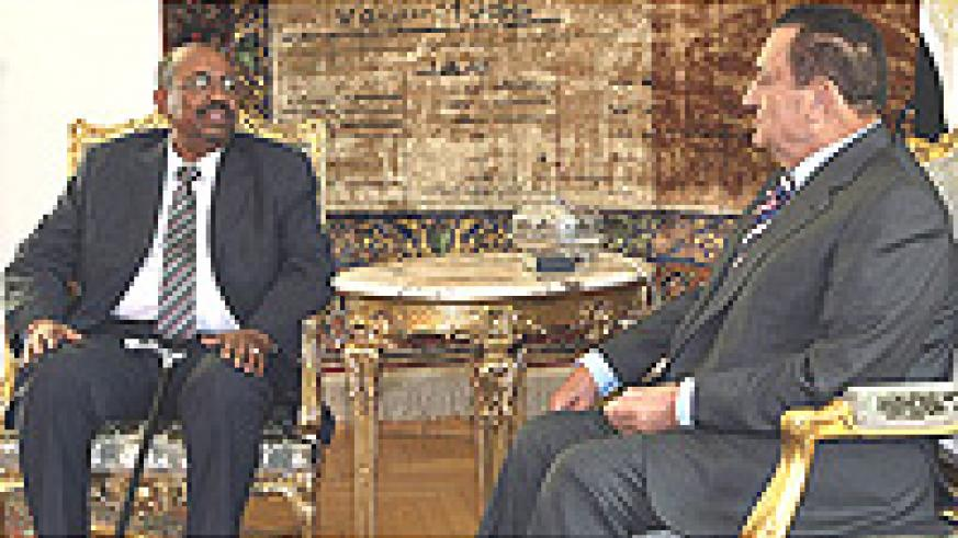 President Omar al-Bashir of Sudan met with his Egyptian counterpart, Hosni Mubarak, in Cairo on Wednesday.