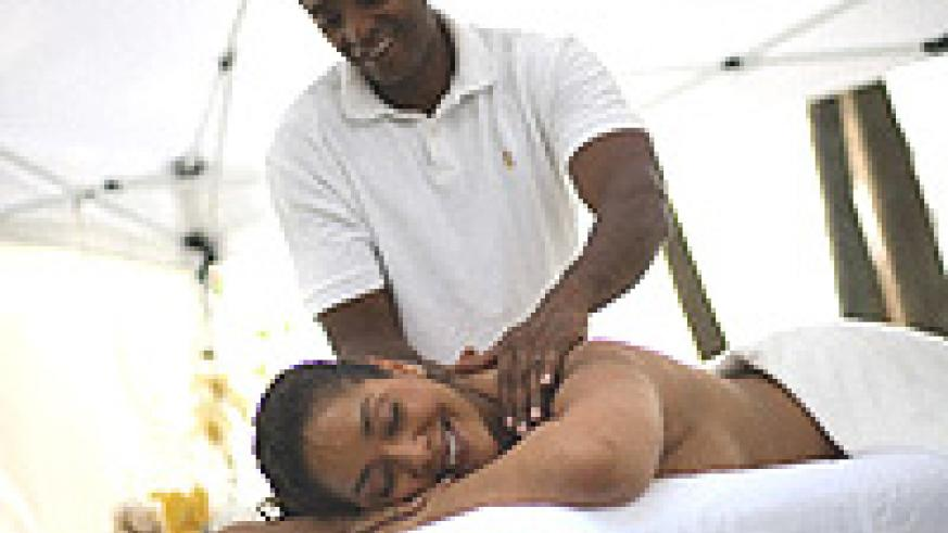Body massages are a relaxing pass time.