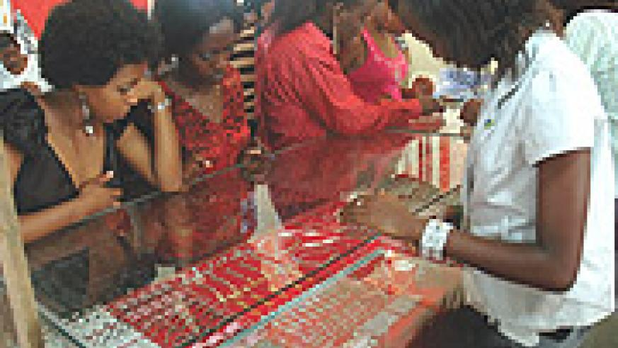 The jewllery section received many visitors during the recent Arian Expo in Kigali.