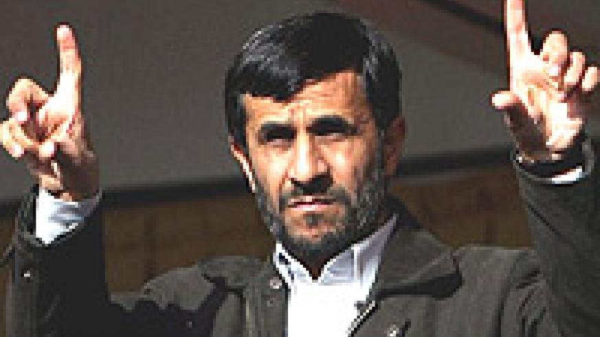 Mahmoud Ahmadinejad, The Iranian President is alleged to be developing a nuclear weapons programme.