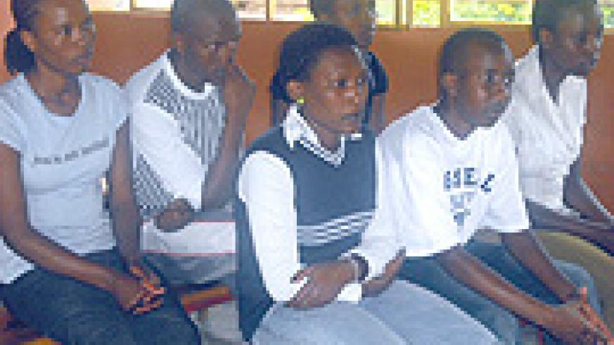 Unity Family orphans listen attentively during the occasion.