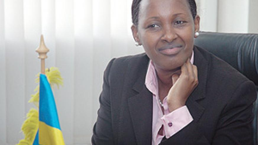 Infrastructure Minister Linda Bihire. Her ministry is overseeing the railway project (File Photo)