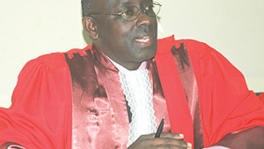 Johnston Busingye the EACJ Principal Judge who is also the President of the High Court.