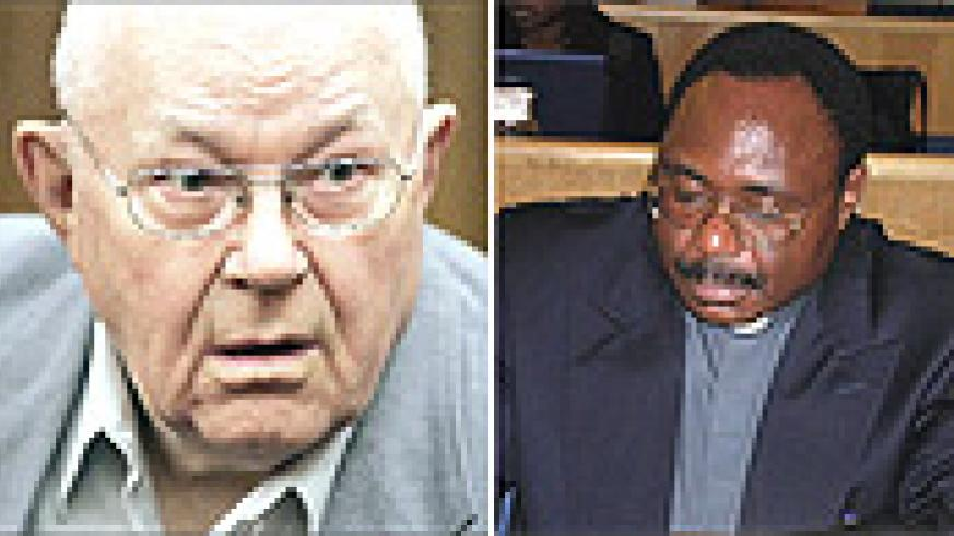 L-R: John Demjanjuk is accused of being an accessory to the murder of over 29 000 Jews, Athanase Seromba like fellow priest Uwayezu turned the sword on their flock.