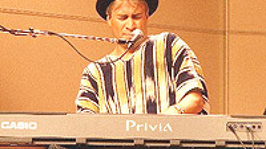 Rick DellaRatta ----at it  in the concert.