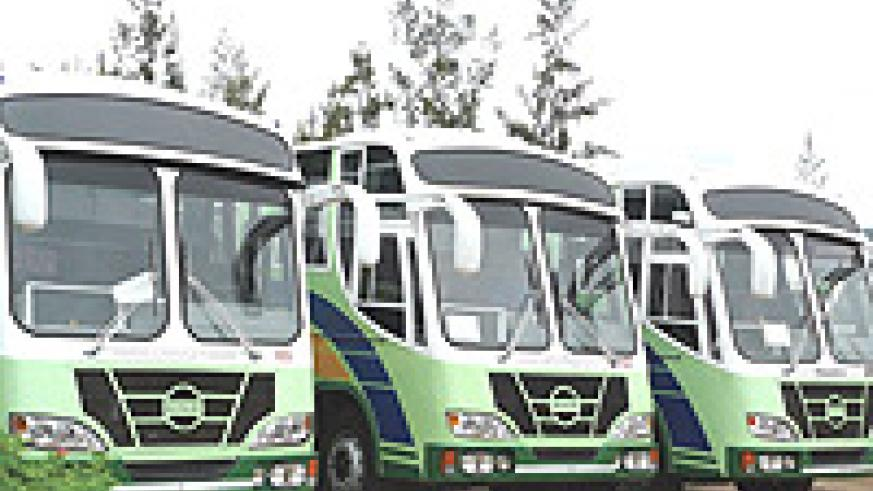 The Onatracom buses that have just been acquired. (Photo / G. Ntagungira)