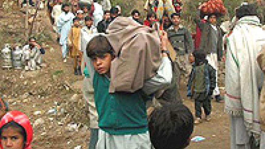 Refugees have been fleeing the Swat Valley as the Taliban advanced.