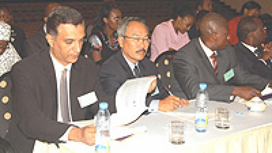 Insurers and brokers attending the recent insurance summit at the Kigali Serena Hotel. (File Photo).
