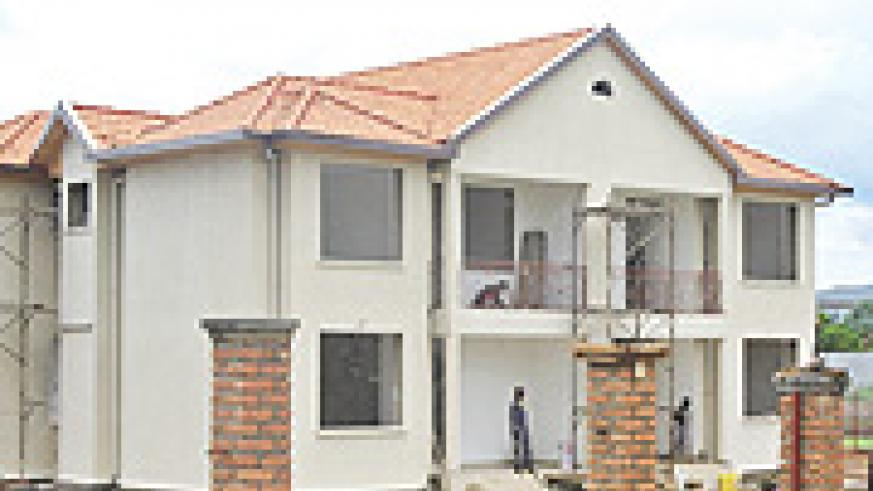 Gacuriro Maisonettes: Owning a house of this type under the BCR mortgage financing is currently 'on ice'.