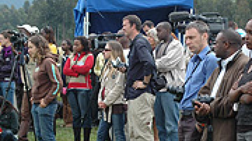 Journalists at the recent Kwita Izina ceremony