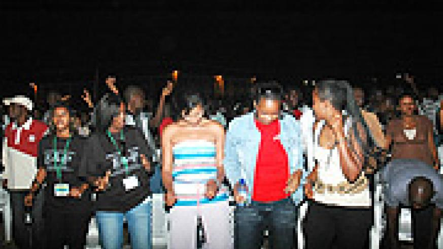 Music lovers pulling out some of their dance styles during the Liberation Day concert. (Photo, by J. Mbanda).
