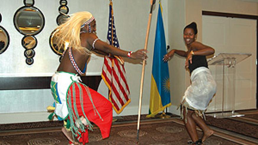 Rwandans in the Diaspora performing during celebrations to mark the 15th anniversary of Liberation Day in Washington (Courtsey Photo)