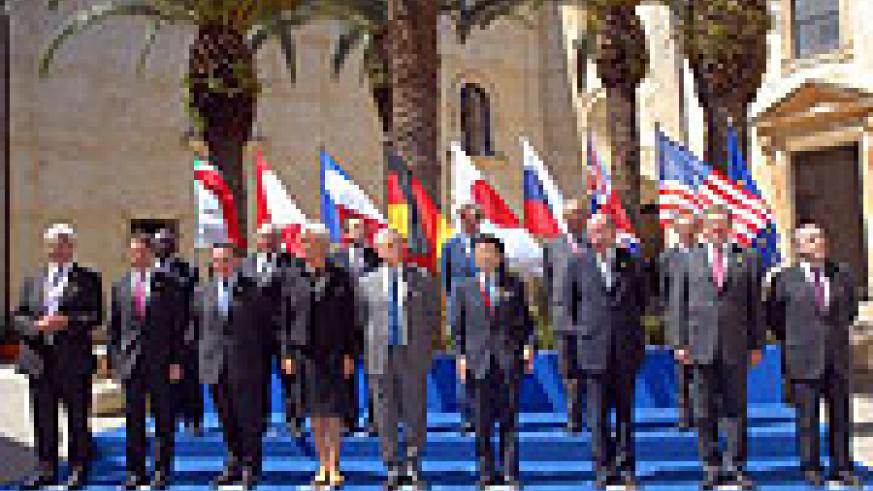 The 2009 G8 Meeting of Finance Ministers, held in Italy