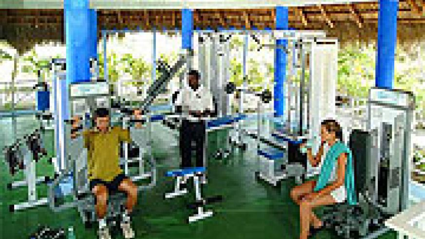 Gym instractors make aerobic routines easier