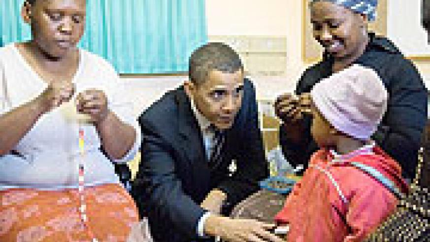 Barack Obama meeting a womans group