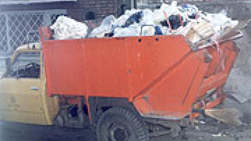 A garbage collection truck. Kigali City Council ought to centralise garbage collection in the city