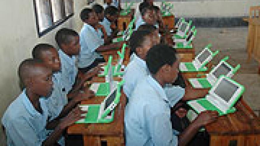 Pupils with Lap tops