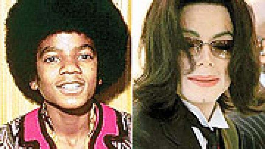 The late Michael Jackson's different faces. notice the difference when still young.