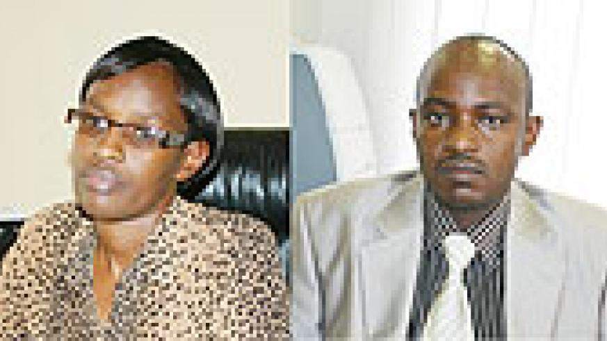 L-R:Director of CDF Laetitia Nkunda;Elias BAYINGANA  director of national budget(Phot by F.Goodman)