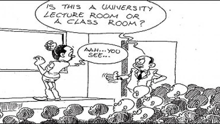 After several dialogues with heads of the institutes, it was discovered that almost all the universities and institutions do not have enough lecture rooms, lecturers are not motivated and there was need for salary structures, report by Parliament Standing