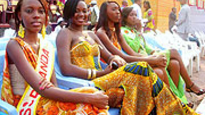 Miss NUR, Uwimbabazi (left) with some of other Misses, during the inauguration.