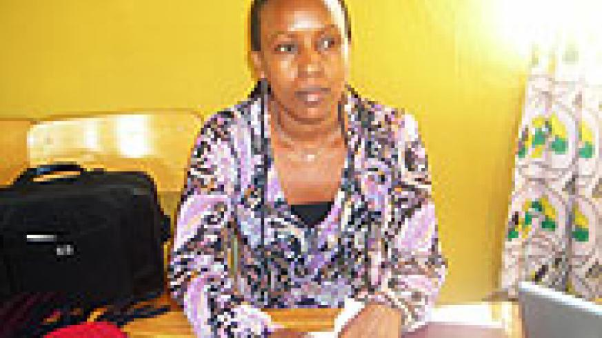 Ruth Mukakimenyi, the coordinator of  the training.