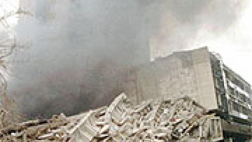 The terrorist attack on the us embasy in Kenya in 1998 (Net photo).