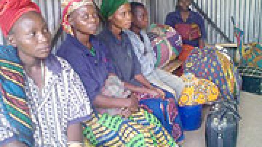 Some of the wives of the FDLR rebels who got repatriated through Kamembe last tuesday