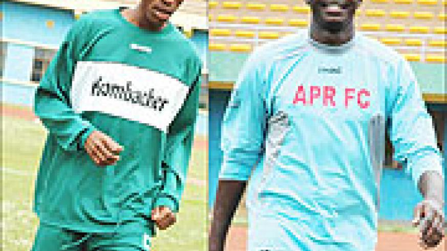 L-R:Mugiraneza was reportedly ready to return to his former club Kiyovu but has since agreed a new deal;READY TO COMMIT: Goalkeeper Ndoli is one of several first team players who have agreed in principle to sign contract extentions with APR.