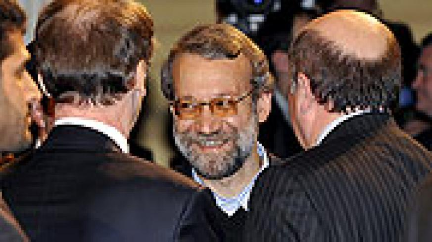 Ali Larijani, chairman of the Iranian parliament, arrives at the 45th Munich Security Conference in Germany