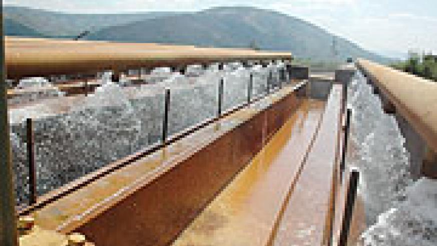 TO THE RESCUE: Water treatment plant on River Nyabarongo.